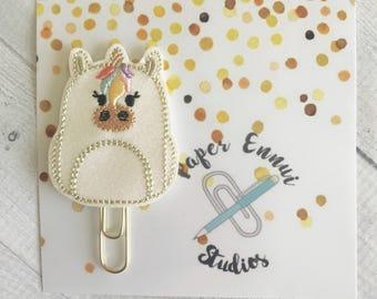 Unicorn Backpack Planner clip Paper clip Bookmark