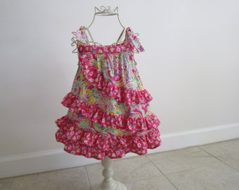 Girl's spiral ruffle dress in size 2