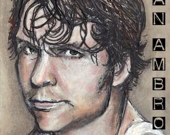 Dean Ambrose Copic Marker Drawing Art Print WWE Wrestling 11.7 x 16.5 inches Asylum Lunatic Fringe The Shield