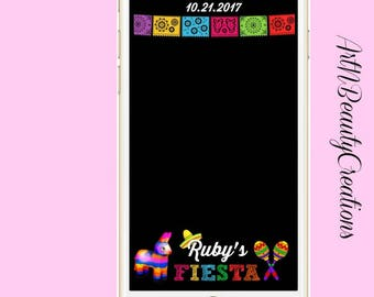 Fiesta Party Snapchat filter Mexican Theme Birthday Party. & has option for Uploading snapchat. Mexican Fiesta theme. Fiesta snapchat filter