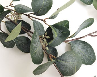Eucalyptus, faux, eucalyptus spray, eucalyptus leaves, Silver dollar eucalyptus, faux eucalyptus, artificial eucalyptus,