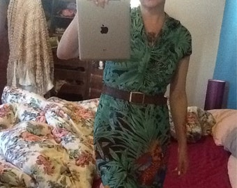 GORGEOUS VINTAGE 80's tropical COACHELLA one off festival dress