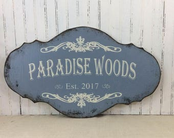 Personalized sign, custom decor, realtor housewarming gift, beach cottage plaque, retirement getaway condo sign,house naming sign