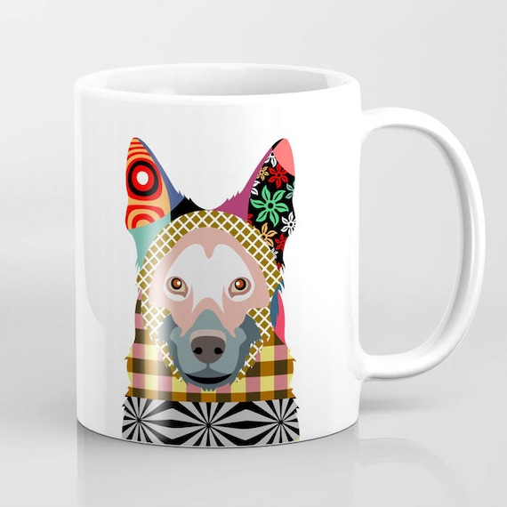 German Shepherd Mug,  German Shepherd Gifts,  German Shepherd Art Print, German Shepherd Painting, German Shepherd Dog