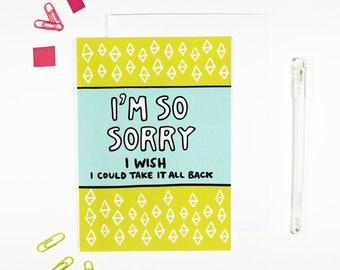 I'm So Sorry Card Apology Card