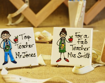 Personalised Teacher Coasters