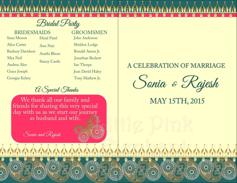 Hindu wedding program indian wedding program indian zoom stopboris Images
