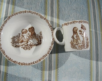 CLEARANCE    Meakin  Childs Cup and Bowl vintage 1945
