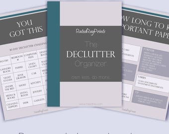 The Declutter Organizer 8 page PDF Guide