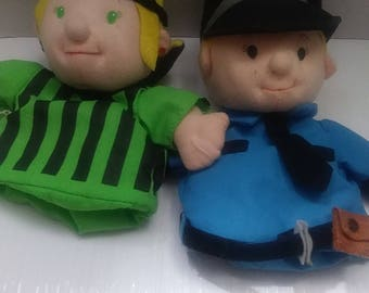Lillian Vernon Hand Puppets Policeman Soccer Player Two 9in