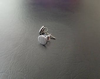 Circle Minimalist Geometric 20g Steel Earring Studs Ear lobe Cartilage Piercing Studs 316lvm Stainless Steel Earrings