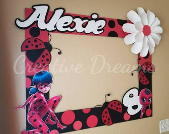 Miraculous Ladybug Party Photo Frame