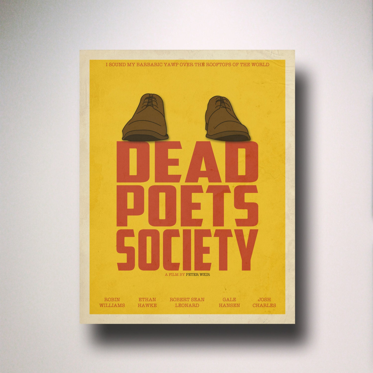 Dead Poets Society Inspired Minimalist Movie Poster /
