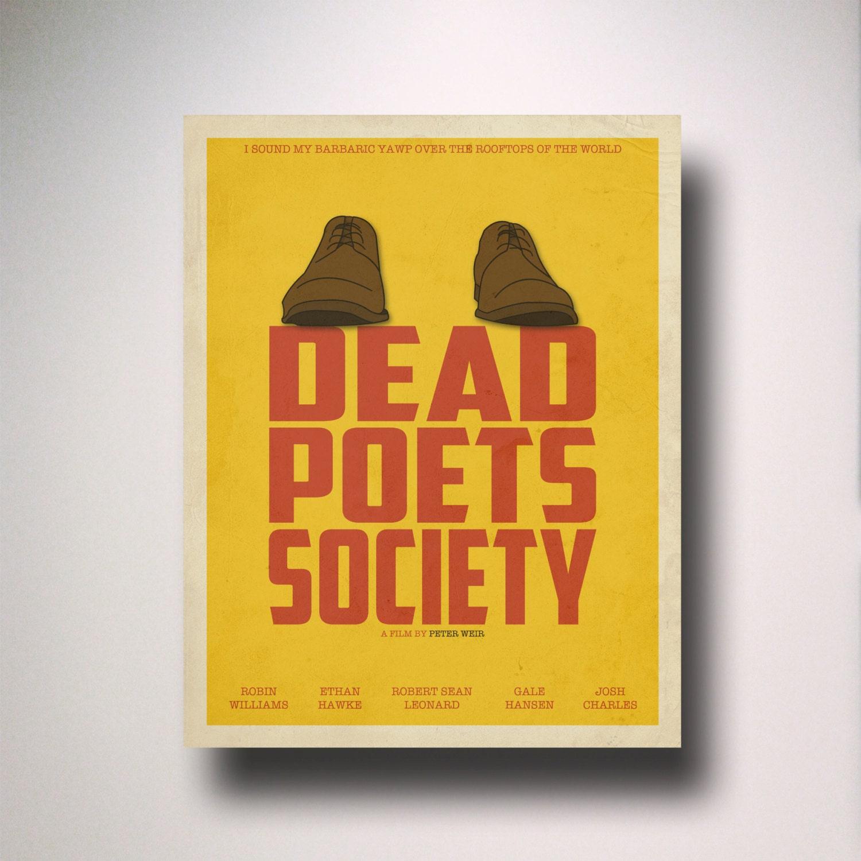 Dead Poets Society Inspired Minimalist Movie Poster /