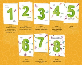 Set of 12th birthday cards that count up to a boy or set of 8th birthday cards that count up to a boy or girls bookmarktalkfo Image collections