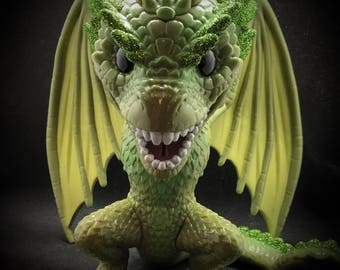 Glitter Rhaegal super sized customized POP Funko! Made to order Daenerys Dragon from Game of Thrones.  Mother's Day gift or collectable.