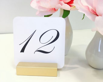 Table Number Holder + Gold Table Card Holders (Set of 15) ON SALE