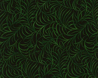 Timeless Treasures - Reverie - Fern - Black - Fabric by the Yard C5931-BLK