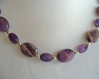 Amethyst and Silver Necklace