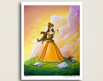 Belle - Inspired Beauty and the Beast - Limited Edition Signed 8x10 Semi Gloss Print (12/20)