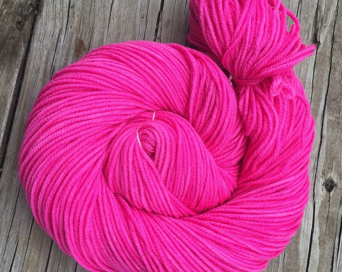 Feminist Pirette Pink Hand Dyed Pink Worsted Weight Yarn Hand Painted yarn 218 yards Superwash Merino Wool swm bright pink pussy hat yarn