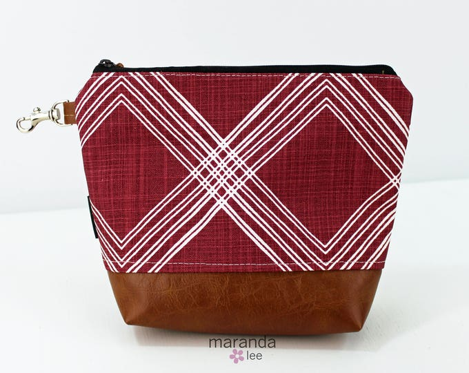 AVA Clutch Medium - Colton Maroon with PU Leather READY to SHIp