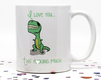 Mature, Valentines Day Gift, Gift for Him, Gift for her, Coffee Mug, Dinosaur Coffee Mug, Funny Coffee Cup, Dino Coffee Cup, Gift for Dino