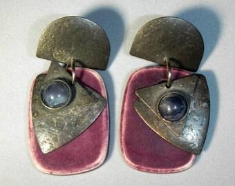 Vintage Eclectic Dangle Pierced Earrings