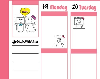 Bow Robot Girl Facepalm   Cute Planner Stickers   Perfect for planners and calendars   R2025