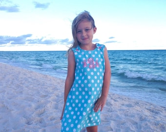 Girls beach dress, Easter Dress infant, cute baby girl clothes, Personalized baby girl gifts, little girl dresses, monogram baby girl