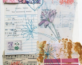 Mulberry Music ~ an original mixed media collage
