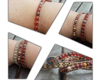 Wrap bracelet 3 rows