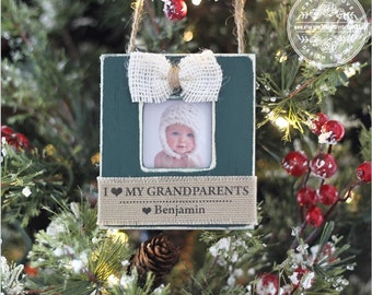 Personalized Christmas Ornament for Grandparents Grandma Grandpa Grandchild GIFT Holiday Ornament