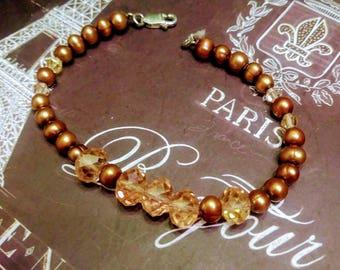 Chocolate Pearl Bracelet