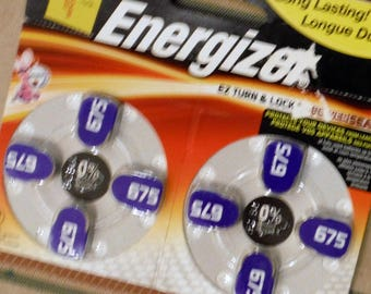 ENERGIZER BATTERIES, 675, Mercury Free, Hearing Aid, 8 Pack Battery, Craft Supply,