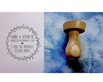Crown stamp, address stamp custom stamp personalized address stamp address stamp, custom wedding stationery