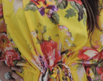 Floral Kaftan, Caftan, Perfect dress, For to be Moms, beach cover up, Sleepwear, Best Gift for her