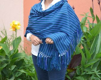 Mexican Shawl Scarf Rebozo, Folk Fabric Table Runner, Baby sling carrier, Mexican Rebozo Doula, Frida Kahlo clothing rebozo, aztec fabric