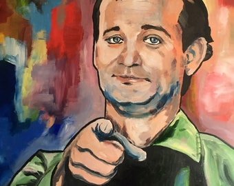 Bill Murray pop art painting