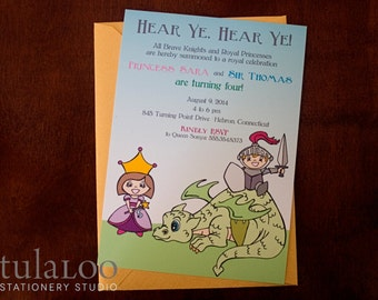 Knights and Princesses - Royal Castle Party Invitation
