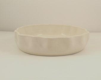 White Quiche Dish