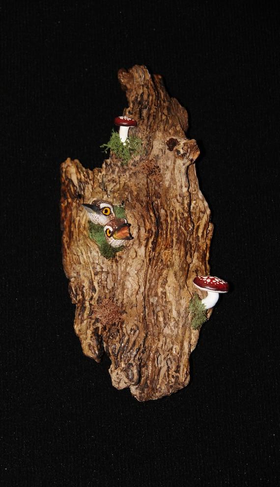 Ceramic Bird Wall Art - Hand Sculpted - OOAK