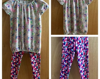 Jersey Knit Top and and Leggings, child size 5/6