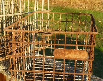 Rusty Wire Locker Gym Basket Rustic Wedding 9X15 Authentic Industrial School Storage