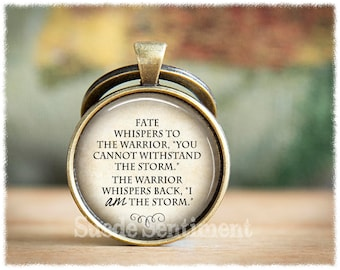 I Am The Storm • Inspirational Keychain • Fate Whispers • Warrior Keychain • Strength • Encouragement • Recovery Gift