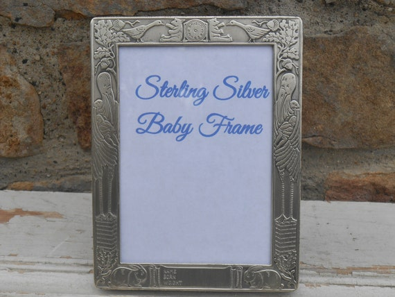 Sterling Silver Baby Frame Ready to Engrave with Name, Date, Weight ...