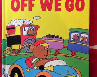 Off We Go Preschool Pop-ups series,  Vintage Children's book 1988 First Edition