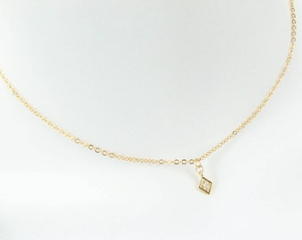 Gold plated Diamond shape cubic chain