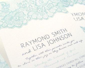 Printable Custom DIY Wedding Invitation, RSVP and Wishing Well Suite - Elegant Lace