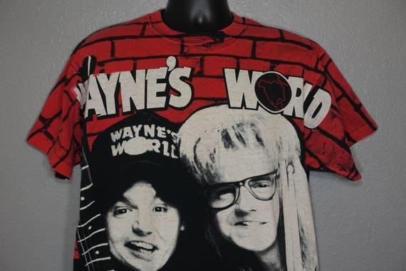 1992 RARE Wayne's World - Coolest T-Shirt In The Universe - Wayne and Garth Stanley Desantis Vintage T-Shirt